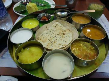Dish at India restaurant