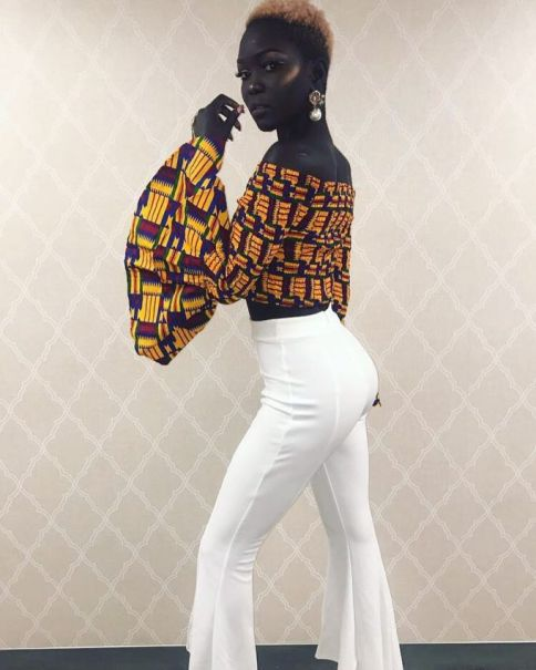 TV-Show-South-Sudanese-Model-22Queen-of-Dark22-Nyakim-Gatwech-on-The-Harry-Show-2